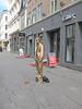 Standing still (mittalbum) Tags: summer oslo standing golden streetartist karljohan pedestrianarea standingstill canonpowershots90