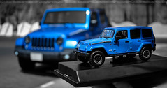 Mini Monster  (dr.7sn Photography) Tags: blue sahara statue toy jeep hydro polar unlimited addition wrangler