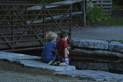 Toledo, OH (lizzie.gapa) Tags: friends boy ohio people favorite cute nature boys water stone kids children lens outside outdoors person fishing nikon child watching sigma follow fave toledo sharing d80