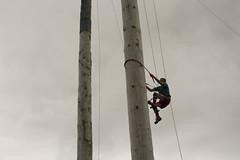 Pole Climber (The6millionpman) Tags: man wales clouds climb nikon overcast pole climbing royalwelshshow