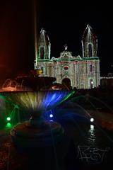 Source and church (Andrs Ramrez fotografa) Tags: christmas lights navidad nikon colombia boyaca tibasosa d7100