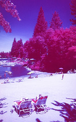 Infrared Lake Arrowhead II (carlfieler) Tags: aerochrome infrared 35mmfilm analog lakearrowhead landscape california canona1 28mm 28mmlens