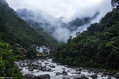Morning Fog (isaac.borrego) Tags: uploadedviaflickrqcom river water city town buildings clouds mountains andesmountains aguascalientes peru canonrebelt4i southamerica losandes machupicchu
