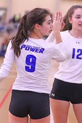 IMG_3206 (SJH Foto) Tags: girls volleyball teen teenager team ecp chrome east coast power u17s substitution sub rotation