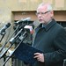 Bagdy Gábor főpolgármester-helyettes, a Kereszténydemokrata Néppárt fővárosi elnöke a kommunizmus áldozatai emléknapja alkalmából tartott megemlékezésen a Gyorskocsi utcai emléktáblánál