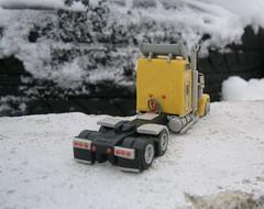 Kenworth W900L yellow (Scale model truck 1/100) (Plast&Cars) Tags: plast cars kenworth w900l yellow scale model truck 1100
