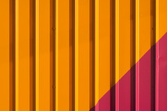 Orange and pink facade (Jan van der Wolf) Tags: map13962v orange oranje lines lijnen pink rose minimalism wall muur gevel facade