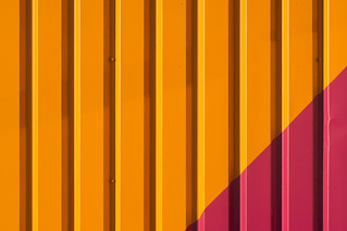 Orange and pink facade