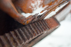Attune your ears to the grinding gears (OR_U) Tags: 2017 oru norway lofoten eggum borga rust gear decay closeup macro metal steel iron bokeh dof