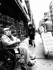 seen (chukdo) Tags: street nyc photography chinatown wheelchair watcher