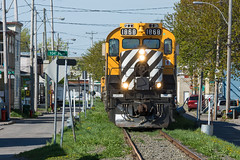 LMCX 1868 @ Montmorency (Mathieu Tremblay) Tags: railroad train railway tourist montmorency chemin charlevoix fer touristique cfc mlw rs18