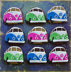 Campervan 9 (Cute Sweet Thing) Tags: pink blue sun green vw fun surf cookie retro iced combi campervan 1960