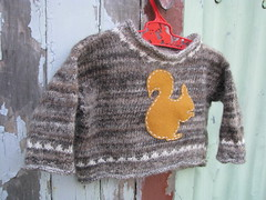 'Heart Felt' winter squirrel upcycled wool jumper (Heart felt) Tags: wool squirrel felt jumper upcycled