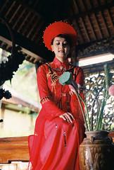 Pretty Bride (Pankha Nikon) Tags: wedding portrait film girl analog vintage bride nikon vietnamese fuji vietnam analogue filmcamera fujisuperia nikonfm girlwithfilmcamera
