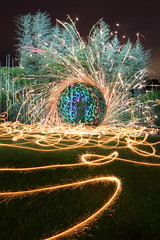 Fireworks & Light at the Bamboo Patch (tackyshack) Tags: light lightpainting fountain painting circle fireworks bamboo ring lp sparkler dlw lightpainter lightphotography tackyshack rgbstrip fountainspin digitallightwand ©jeremyjackson