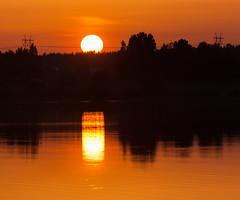 Solar power (Antti Tassberg) Tags: sunset summer lake silhouette espoo finland twilight powerline ilta kes jrvi auringonlasku uusimaa pitkjrvi voimalinja laaksolahti vanhakartano kllsrandsviken