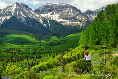 It is a beautiful world ... (Aspenbreeze) Tags: snow mountains rural fence colorado country mountainside peaks sanjuanmountains coloradomountains coloradoscenery aspenbreeze moonandbackphotography bevzuerlein