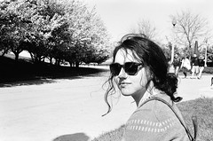 Bronte (emma.dwyer) Tags: blackandwhite chicago roll1 bronte nikonfm 50mmlens