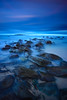 I Dream of Blue @ Forresters (Rodney Campbell) Tags: ocean longexposure sunset seascape beach water rocks australia newsouthwales cpl forresters forrestersbeach gnd06 bigstopper