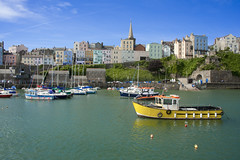 Tenby Harbour (Romeo Mike Charlie) Tags: wales day harbour quay clear pembrokeshire tenby