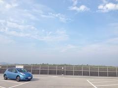 日産リーフ@高知 桂浜駐車場