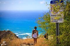 ...tourists (MjZ Photography) Tags: ocean beach turn warning asian hawaii honeymoon waikiki oahu tourists trail diamondhead honolulu diamondheadcrater diamondheadstatemonument