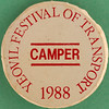 YEOVIL FESTIVAL OF TRANSPORT 1988 - CAMPER (Leo Reynolds) Tags: xleol30x squaredcircle badge button pin sqset097 canon eos 40d 0125sec f80 iso100 60mm grouppins groupbuttons groupbadges hpexif xx2013xx