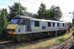 90043 Freightliner Coatbridge 6th Aug 2013 Ipswich (Ian Sharman 1963) Tags: station electric train engine loco class aug 90 ipswich 6th freightliner coatbridge 2013 90043
