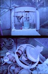greenhouse details (pho-Tony) Tags: blue color 35mm lens 1 lomography purple shift cast infrared mauve halfframe fullframe ultrawide xr blend lcw c41 17mm ultrawideangle superwide 100400 tetenal lomochrome lcwide lomolcw lomolcwide minigon17mm minigon lomochromepurple xr100400 lomochromepurplexr100400 filmlomochromepurple