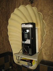 Seashell Payphone (JSDesign) Tags: wall movie tampa tile coin theater phone theatre florida phonebooth telephone tan ivory shell retro lobby payphone cover pay ear seashell fl scallop tampatheater coinoperated scalloped tampatheatre