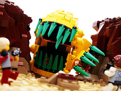 """Zounds!"" (Brother Steven) Tags: monster iron lego space teeth alien scene scifi creature builder"