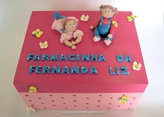 Farmacinha Bonecas Gordinhas Mdf (ndigo Artesanato) Tags: flor biscuit infantil caixa borboleta bebe boneca decorao mdf farmcia farmacinha