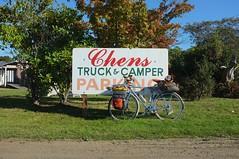 Chens Truck & Camper & Bike Parking (lumachrome) Tags: bicycle oregon washington solo olympic peninsula touring