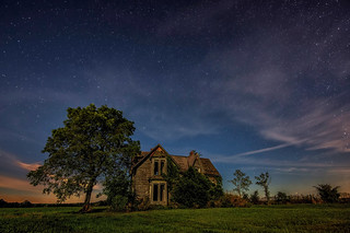 Stars at Night over the Talbot Trail House