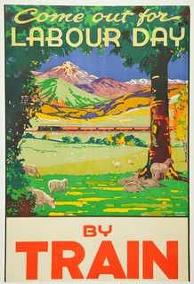 New Zealand Railway poster - Come out for Labour Day by Train 1930-1939