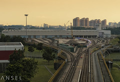 SplitEnds (draken413o) Tags: travel light sunset train singapore asia tracks cityscapes transportation rails depot mrt bishan destinations