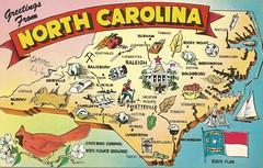 North Carolina (tico_manudo) Tags: northcarolina mapcards