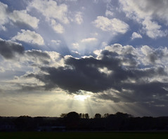 Rutland Sunrays (AndyorDij) Tags: empingham england rutland uk 2013 clouds sunrays skyscape andrewdejardin
