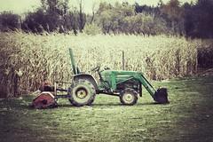 Deere John (ZnE's Dad) Tags: tractor fall oregon cornfield farm johndeere farmequipment sauviesisland sauvieisland krugersfarm snapseed