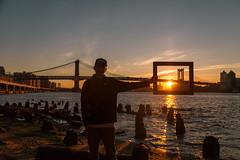 Kyle at the Manhattan Bridge (SamTheCobra) Tags: nyc newyorkcity bridge sunset newyork sunrise manhattan framed manhattanbridge sunsetporn