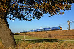 Sky One northbound through Heck Ings (delticfan) Tags: dvt skyone ecml ic225 82216 eastcoasttrains