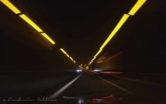 Fast and furious - Light trails on the highway (lathuy) Tags: auto light black cars car night highway noir motorway trails fast voiture trail autoroute quick nuit furious voitures vitesse trainées lumineuses