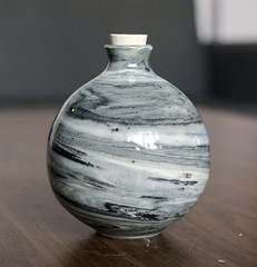neriage bottle (yosangyu) Tags: ceramics clay pottery containers