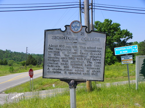 Sequatchie College Historical Marker