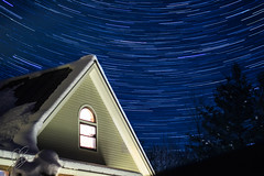 Day 3 - My home for the past week (borkowskiphotography) Tags: camera trees house tree home window nature beautiful stars landscape photography 50mm star nikon vermont jacob trails trail astrophotography norwich nikkor dslr startrails amature startrail borkowski f18g d3100