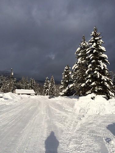 Schnee so weit das Auge reicht