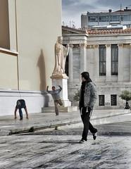 """Neoclassical"" Observer (tSos Greq) Tags: street man explore greece act hombre homme observer propylaea  athensuniversity  tagrex"