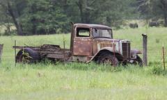 Junk Yard Trucks (tocopixel) Tags: truck rusty junkyard