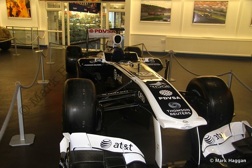 Pastor Maldonado's 2011 Williams FW33 F1 car