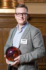 Markus Danielsson från Jotex, vinnare av Web Service Award 2013 i klassen E-handel.